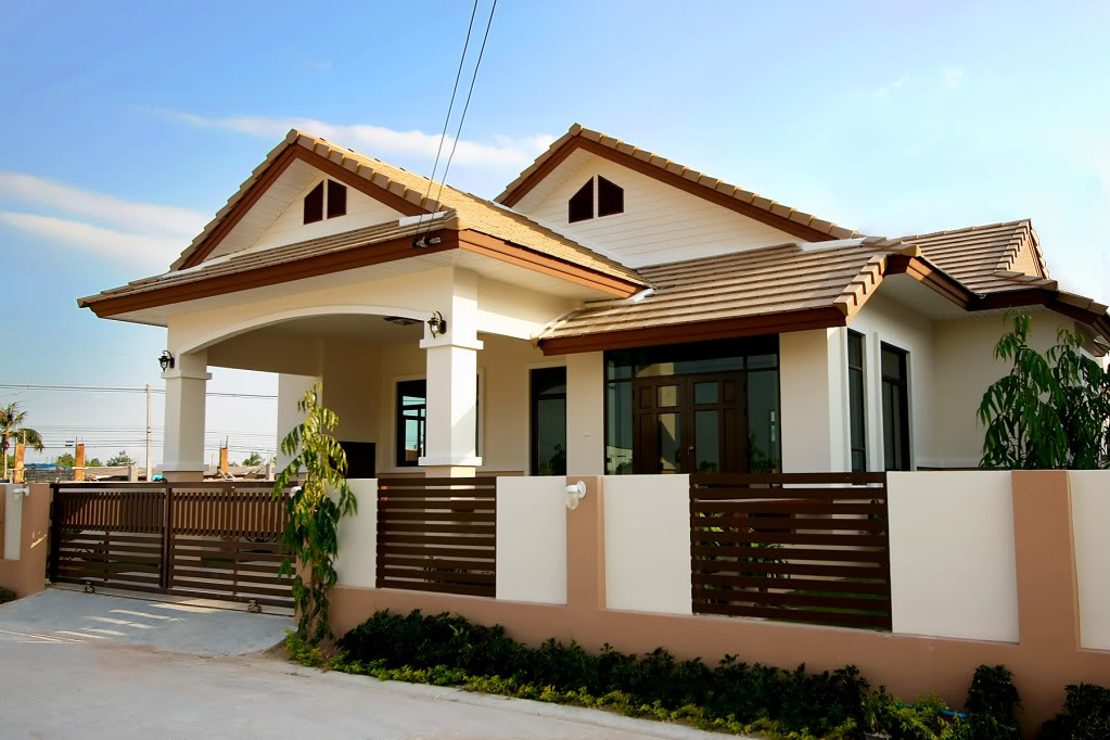 Beautiful bungalow house home plans and designs with photos for Small house architecture design philippines