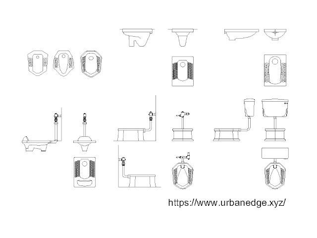 Toilet cad blocks, 15+ Squat toilet cad blocks free download