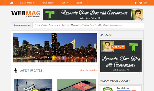 The Webmag blogger template responsive blogger template