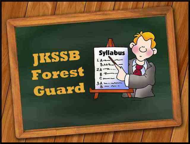 JKSSB Forest Guard Syllabus 2021