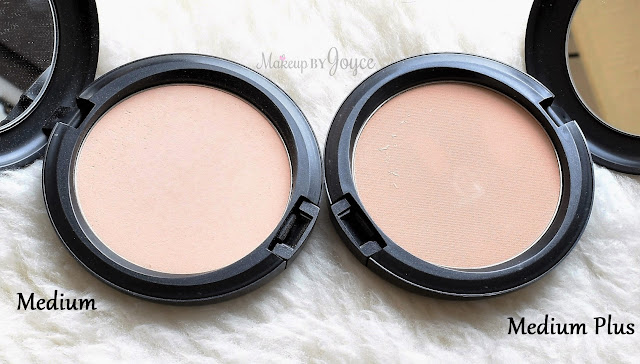 MAC Pro Longwear Pressed Powder Medium Plus Review Comparison Swatch NC30 NC35