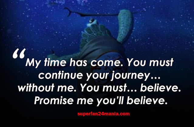 """""""My time has come. You must continue your journey… without me. You must… believe. Promise me you'll believe."""""""