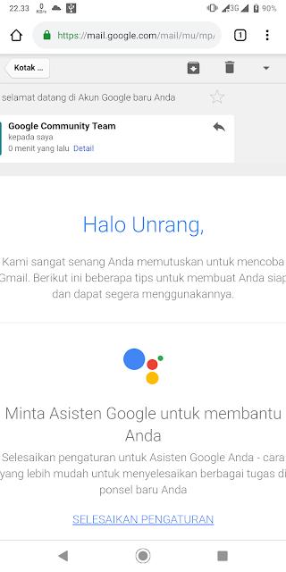 Membuat akun Google sukses