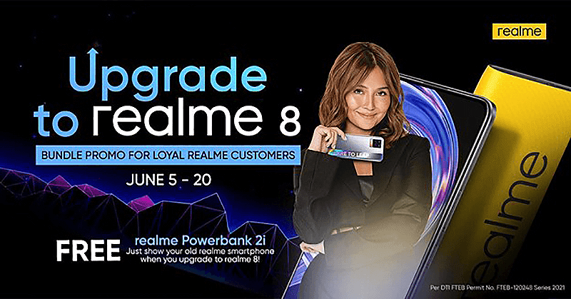 """realme announces """"Upgrade to realme 8"""" bundle promo + discounted after-sales services for June"""