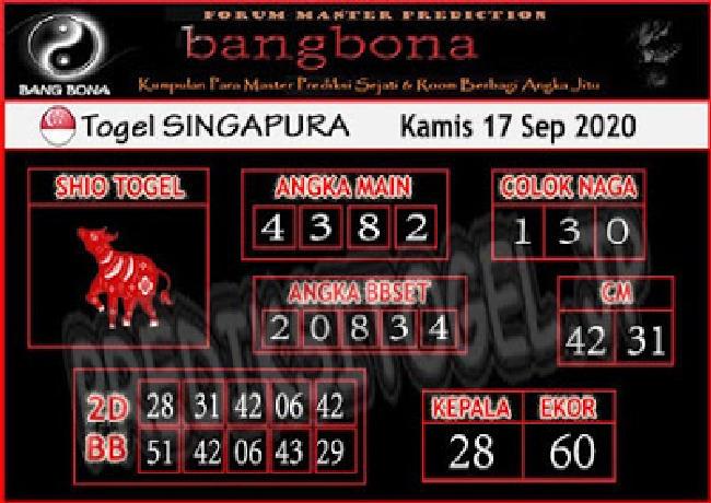 Kode syair Singapore Kamis 17 September 2020 213