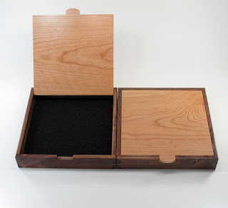 Custom Bracelet Boxes of Walnut and Cherry