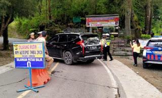 Operasi Ketupat Toba 2021, Polres Samosir Putar Balik Kendaraan Pemudik