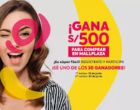 Promoción: Mallplaza Perú Gana: S/500 para comprar en Mallplaza