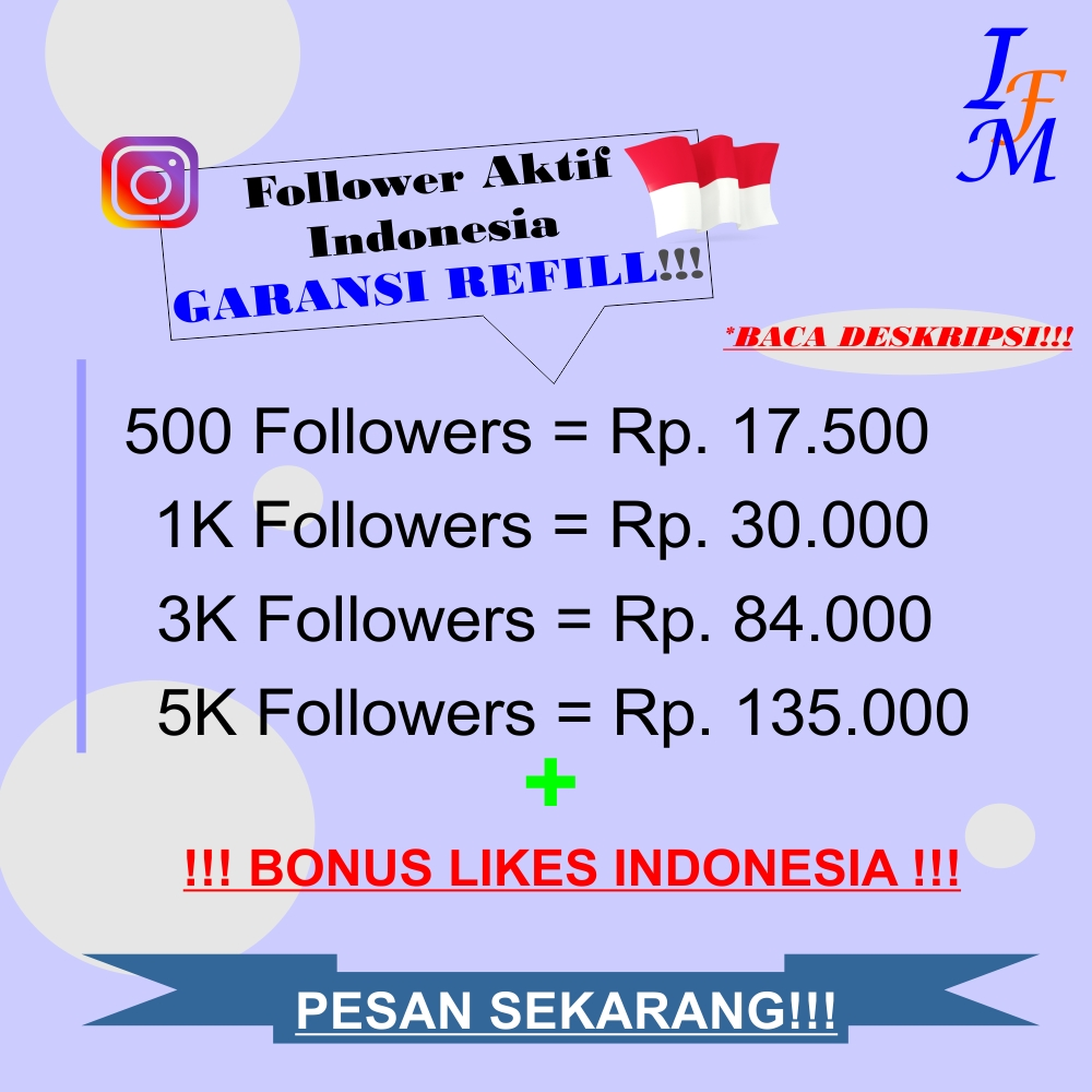 Follower Akun Instagram Aktif Indonesia Murah Garansi Refill