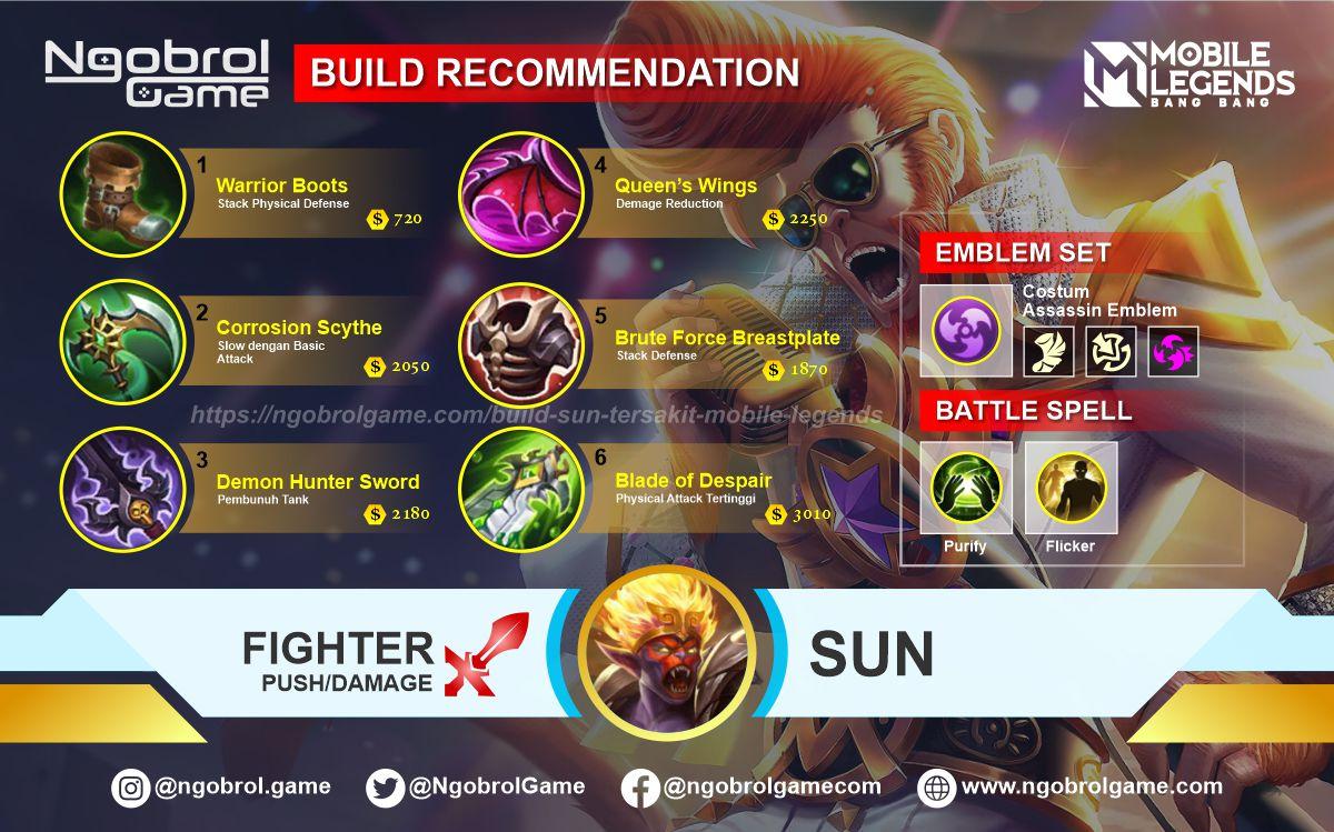 Build Sun Tersakit 2021 Mobile Legends
