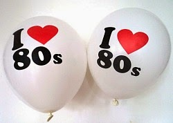 I Loveheart 80s Party Balloons