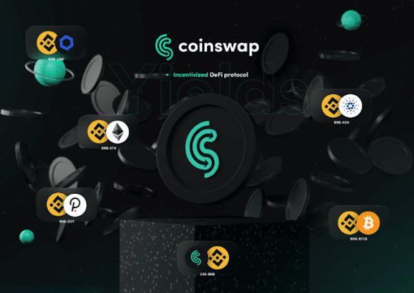 coinswap, defi ve fintech'in birleşimi bir coin