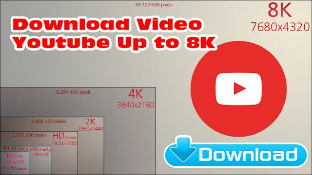 Donwload Video Youtube 720p, 1080p, 2K (1440p), 4K (2160p), 8K (4320p)