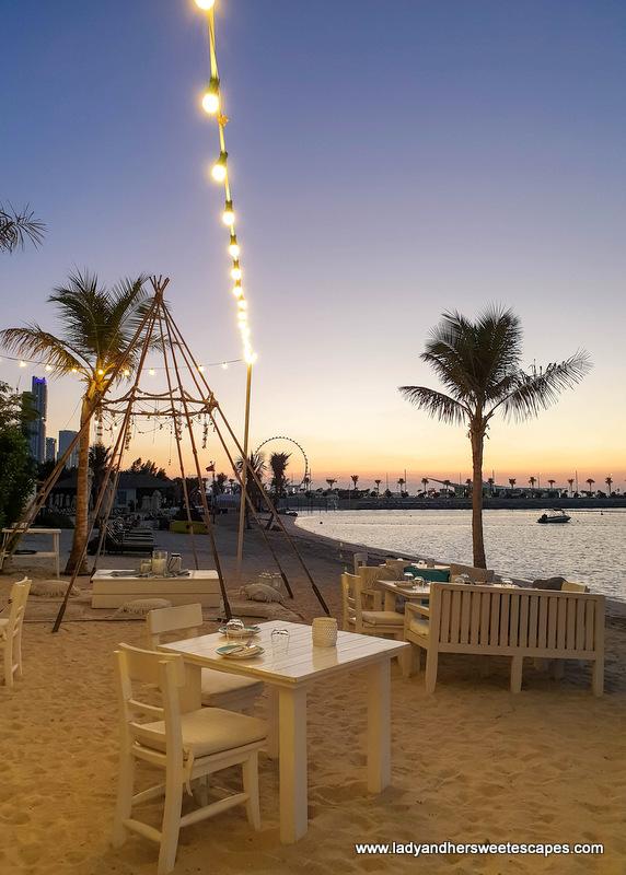 romantic setting in Fish restaurant Dubai
