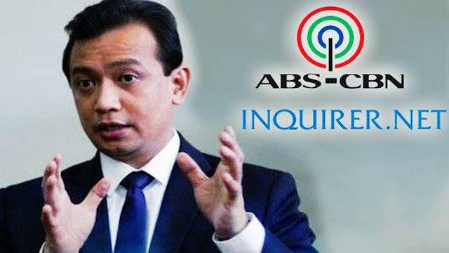 2sOUmUF Duterte calls Trillanes 'hopeless,' curses ABS-CBN, Inquirer: Mga mukhang pera!