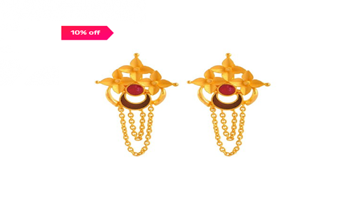 TATA CLIQ – Gold Jewellery - P.C. Chandra Jewellers 22 kt Gold Earrings