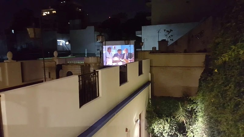 Open air cinema en terraza