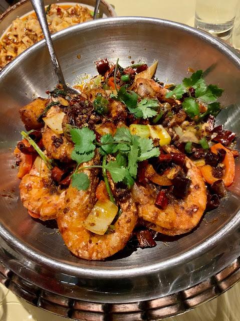 King Prawn dish at Jinli, Sichuan restaurant London #TheGCAs