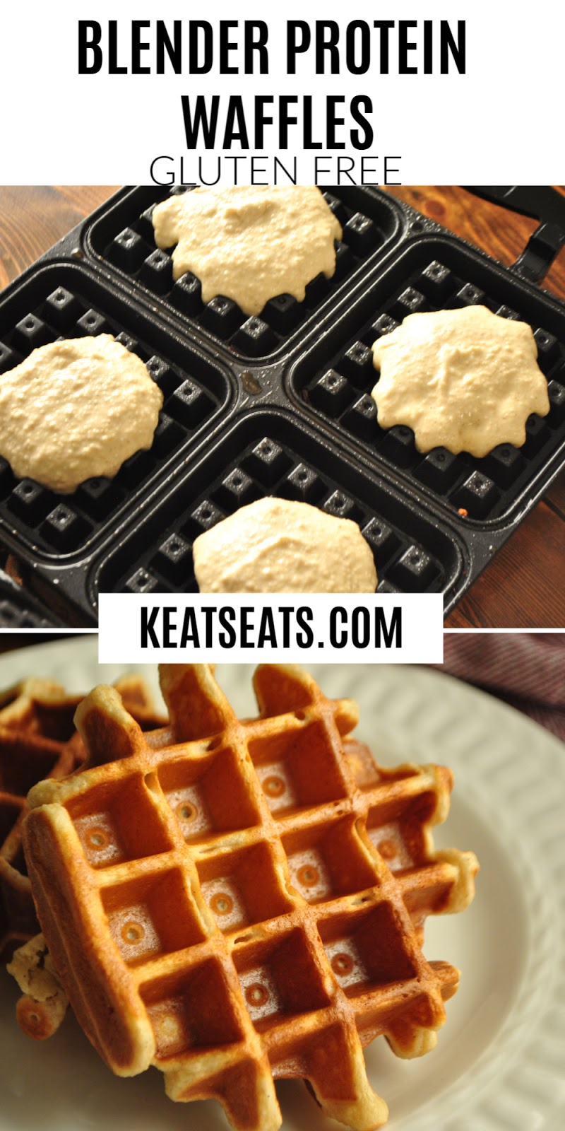 Protein packed, low fat, gluten free blender waffles that are so quick and easy to make!