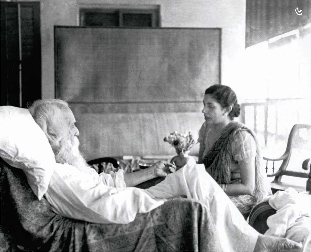 Rabindranah Tagore with Lady Ranu Mookerjee