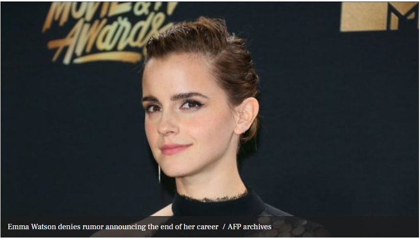 Emma Watson denies the rumor announcing the end of her career