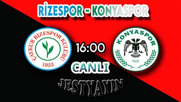 Çaykur Rizespor - Konyaspor canlı maç izle