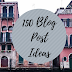 150 Blog Post Ideas