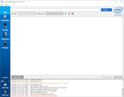 Intel Platform Flash Tool v5.5.1.0 Free Download