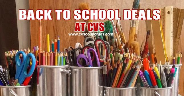 Back to School Deals at CVS