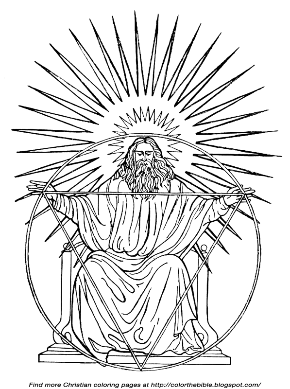 God The Father Coloring Pages Coloring Pages