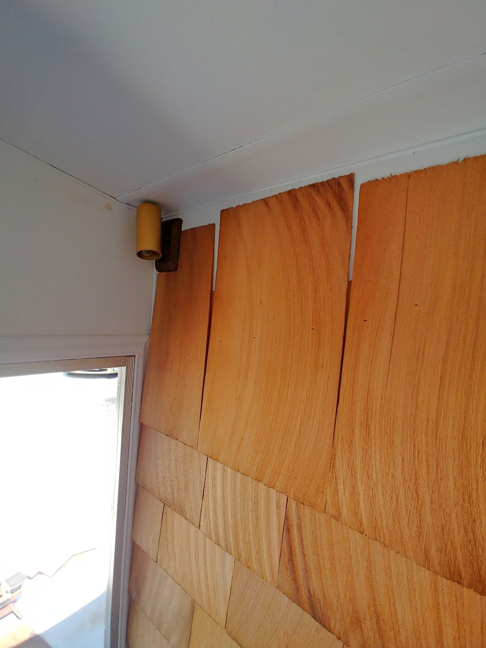 Cedar Shingle Motorhome Accent Wall