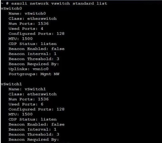 ESXi networking commands - Part 1