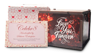 Birthday Gifts for , Love, Girlfriend & Fiancé Celebr8 Love You Forever Greeting Cards in Wooden Box, Cards