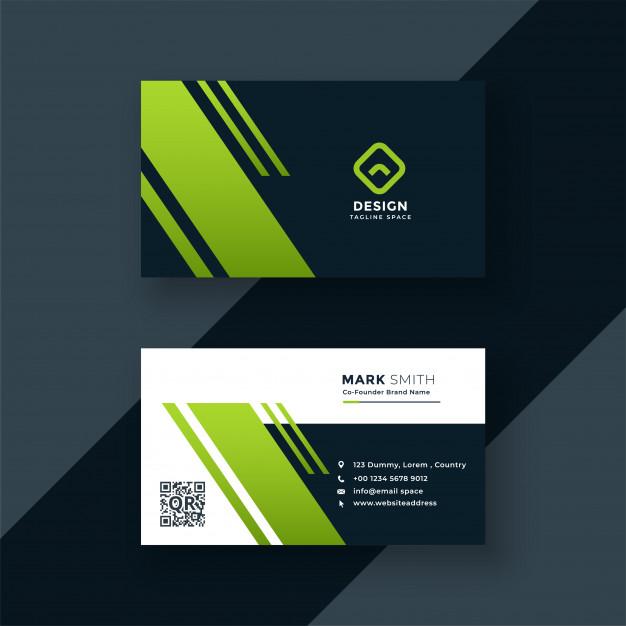 dark green business card professional design free vector