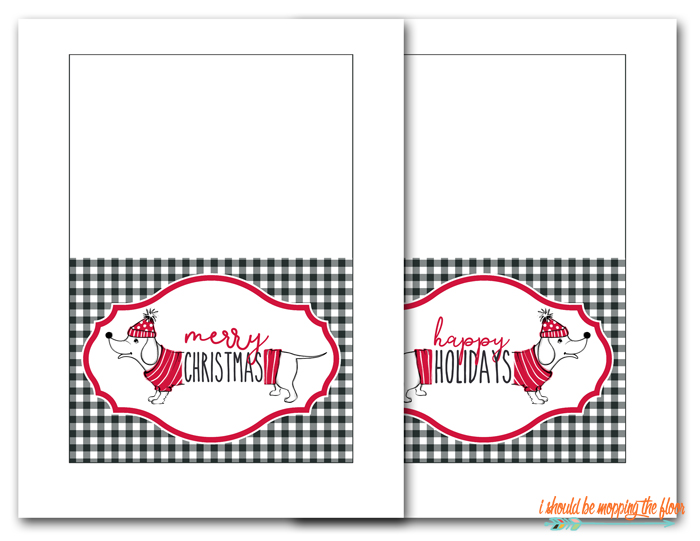 Free Printable Dog Christmas Cards