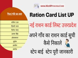 UP Ration Card List (New) NFSA Beneficiary Suchi PDF Download Check/Search Name