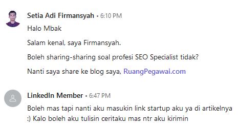 LinkedIn Meylisa Rahman