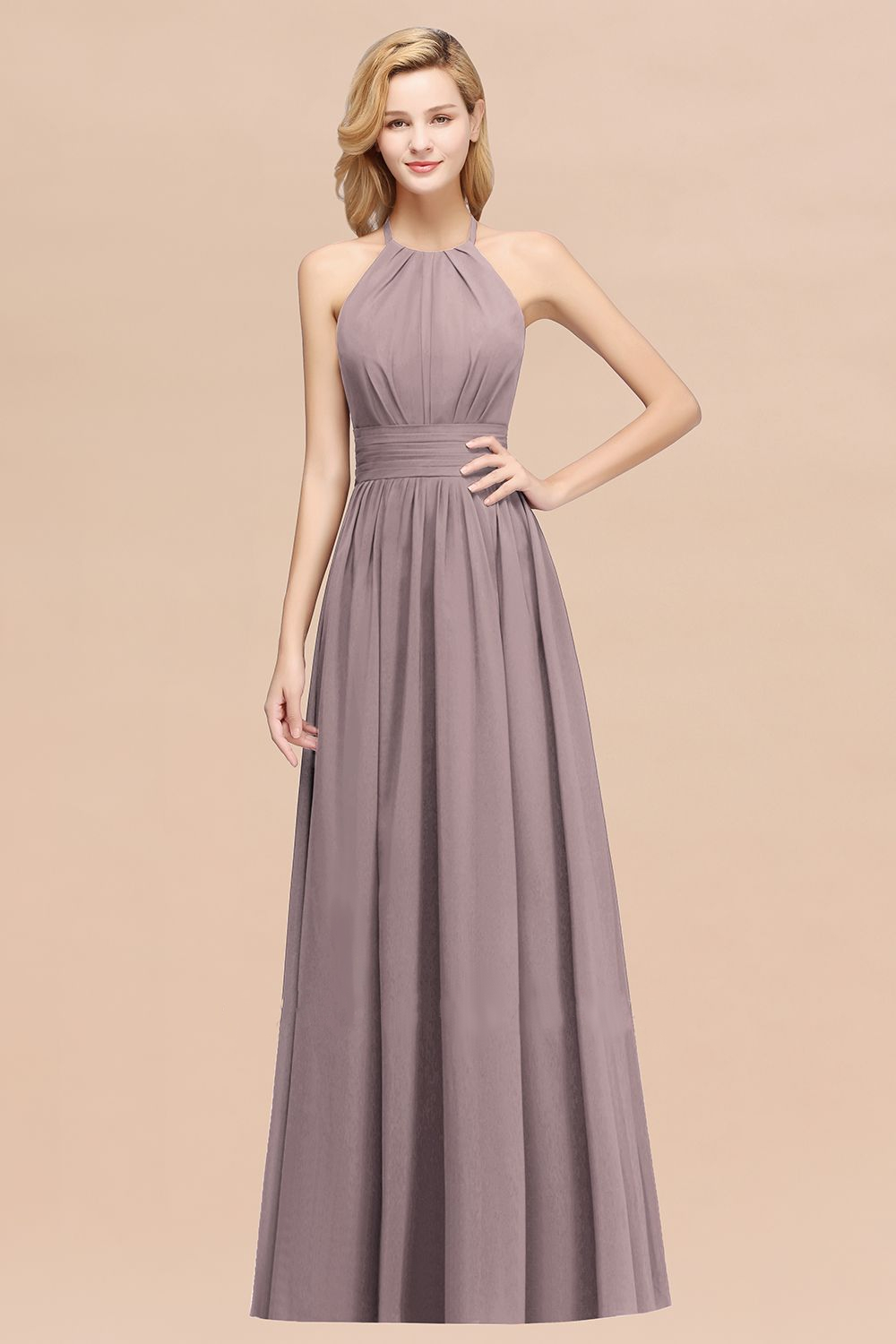 dusk bridesmaids dress for wine and chocolate wedding ceremony