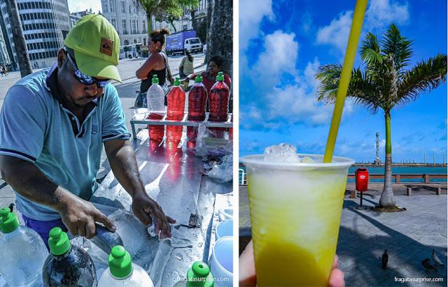 raspadinha, refresco popular em Recife