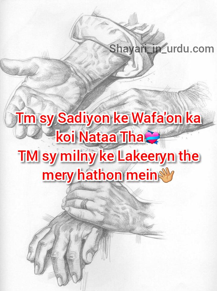 Wafa Shayari - Tm Sy Sadiyon Ke Wafa'on Ka Koi Nataa Tha