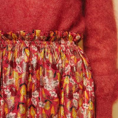 Розовый свитер с юбкой с оборками для романтика