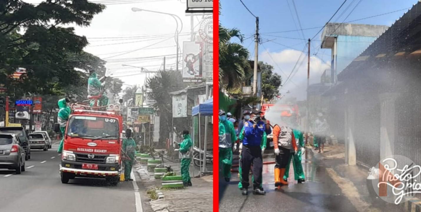 Perintah Bupati Malang, Gerak Serentak Penyemprotan Disinfektan Di Seluruh Kecamatan