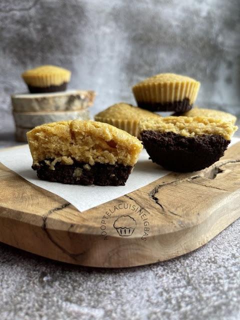 Broffin (Brownie + Muffin) chocolat orange coco - IG bas
