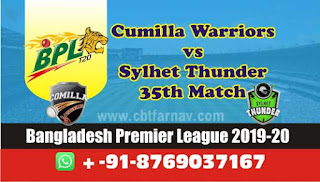 Today Match Prediction Cumilla vs Sylhet BPL T20 35th Match 100% Sure