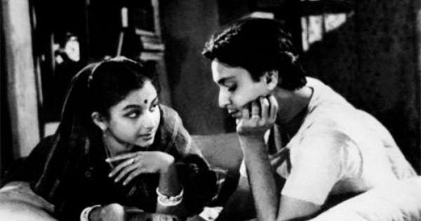 Sharmila Tagore et Soumitra Chatterjee dans Le Monde d'Apu (1959) de Satyajit Ray