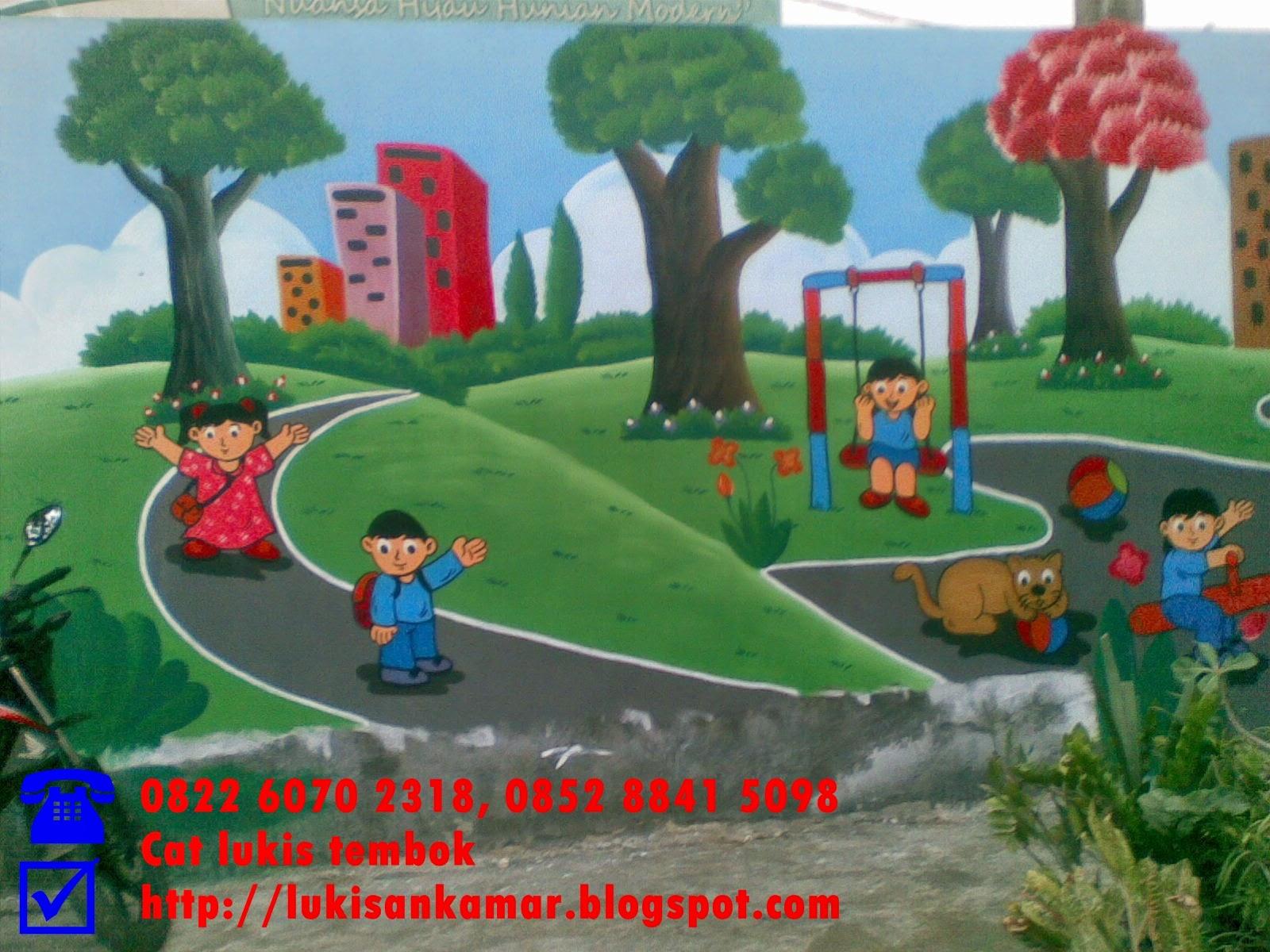 Lukisan Di Dinding Sekolah Tk Cikimmcom