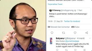 Kocak! Niat Hati Nyindir RG, Kang Survei Yunarto Wijaya Malah Blunder Akhirnya Mingkem