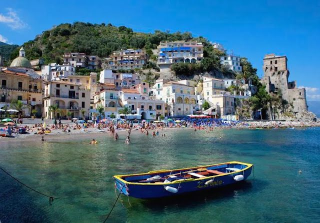 7- The town of Amalfi on the southwest coast of Italy.