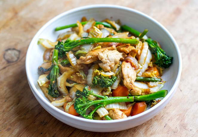 CHICKEN CABBAGE STIR-FRY #healthydiet #yummy #chicken #easy #paleo
