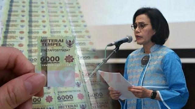 Pemerintah Mau Hapus Meterai Rp 3.000 dan Rp 6.000, Naik jadi Rp 10.000